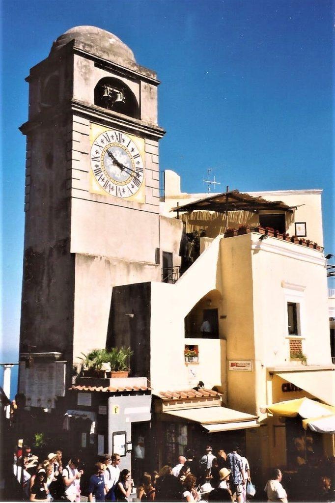 Freestanding Clock Tower in Piazza Umberto I, Capri, Italy