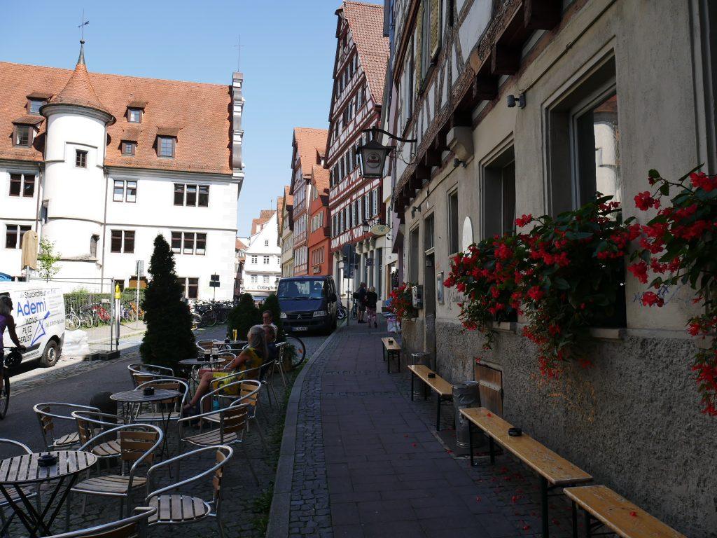 Street terrace restaurant  Germany