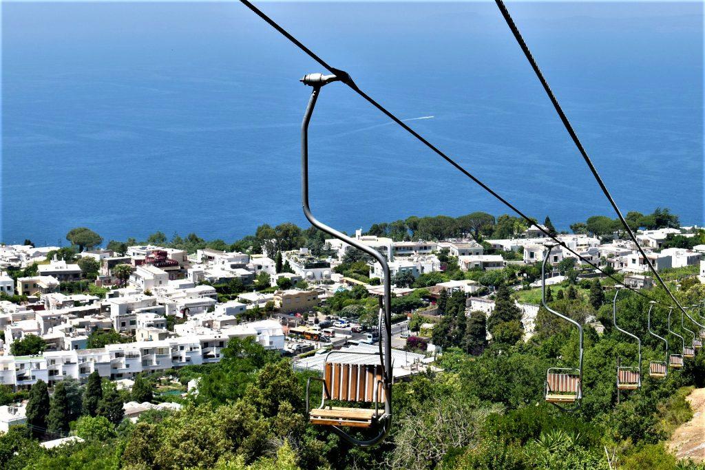 Chair lift to Monte Solaro, Anacapri Capri, Italy