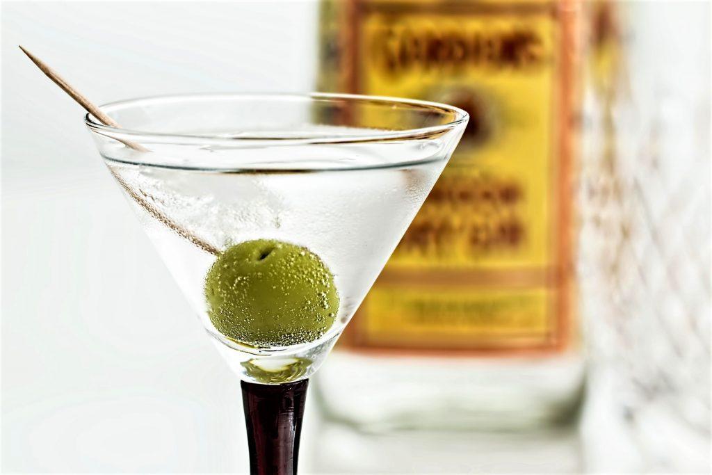 glass of Martini, perfect for an Italian Caprese Salad