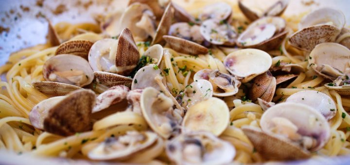 Amalfi Coast Italy Spaghetti with clams Italian Pasta Recipe