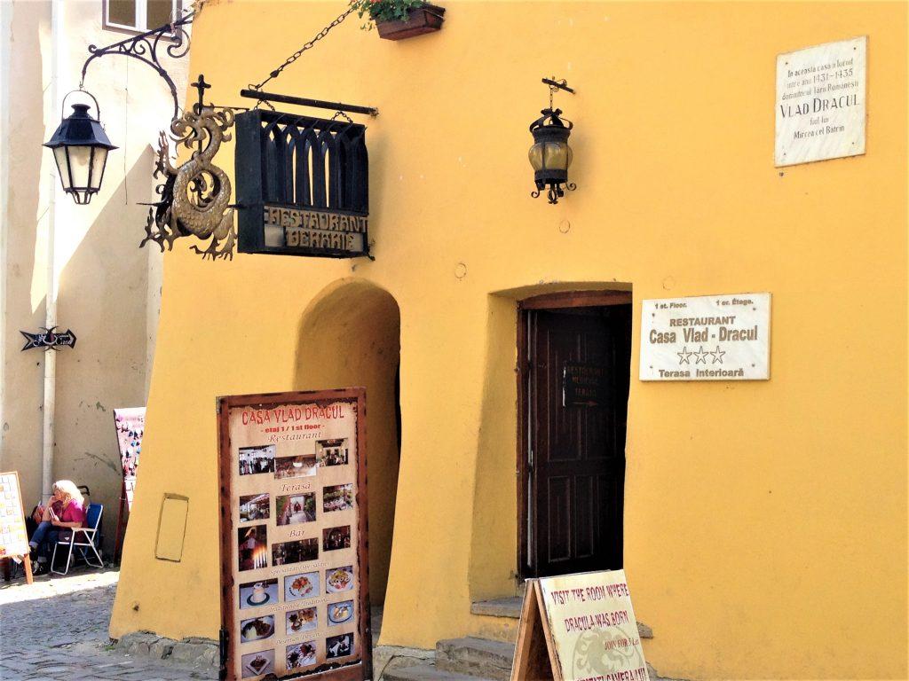 The hause where Vlad Dracula was born in Sighisoara, Transylvania, Romania