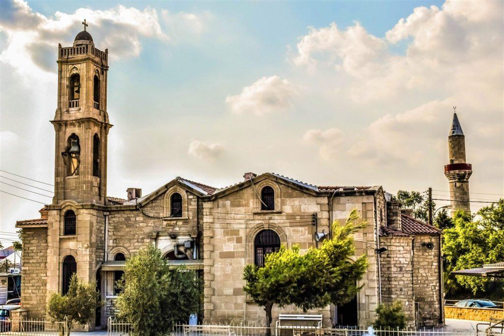 Church Minaret Limassol Cyprus Mediterranean