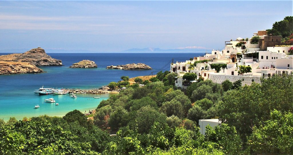 Rhodes Greece Mediterranean Beach Holiday