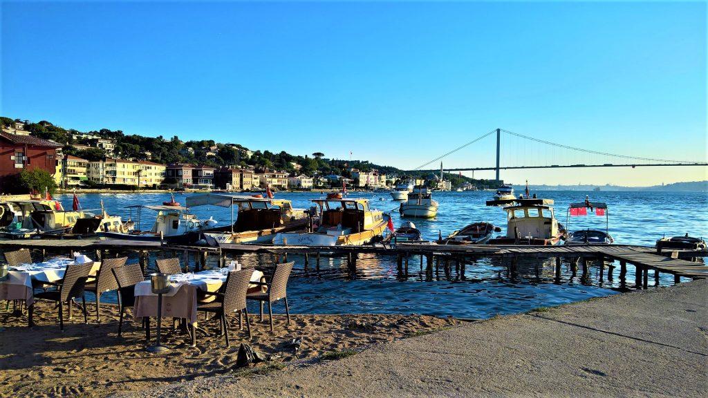 Bosporus tavern on the beach, Istanbul