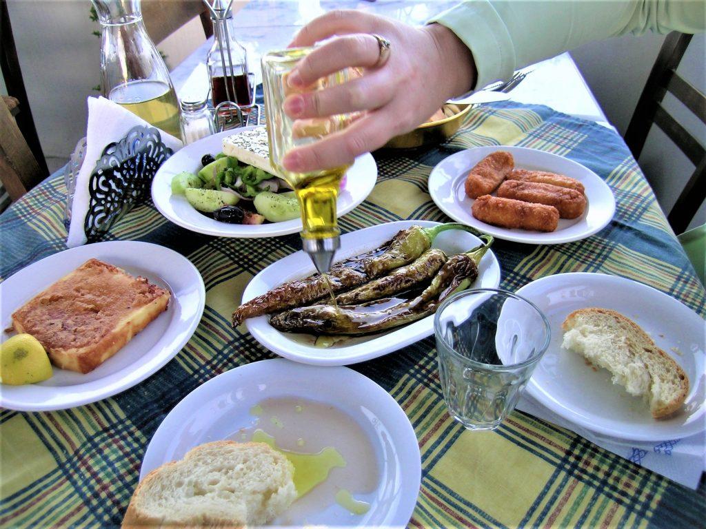 Dinner in Santorini Greek Salad