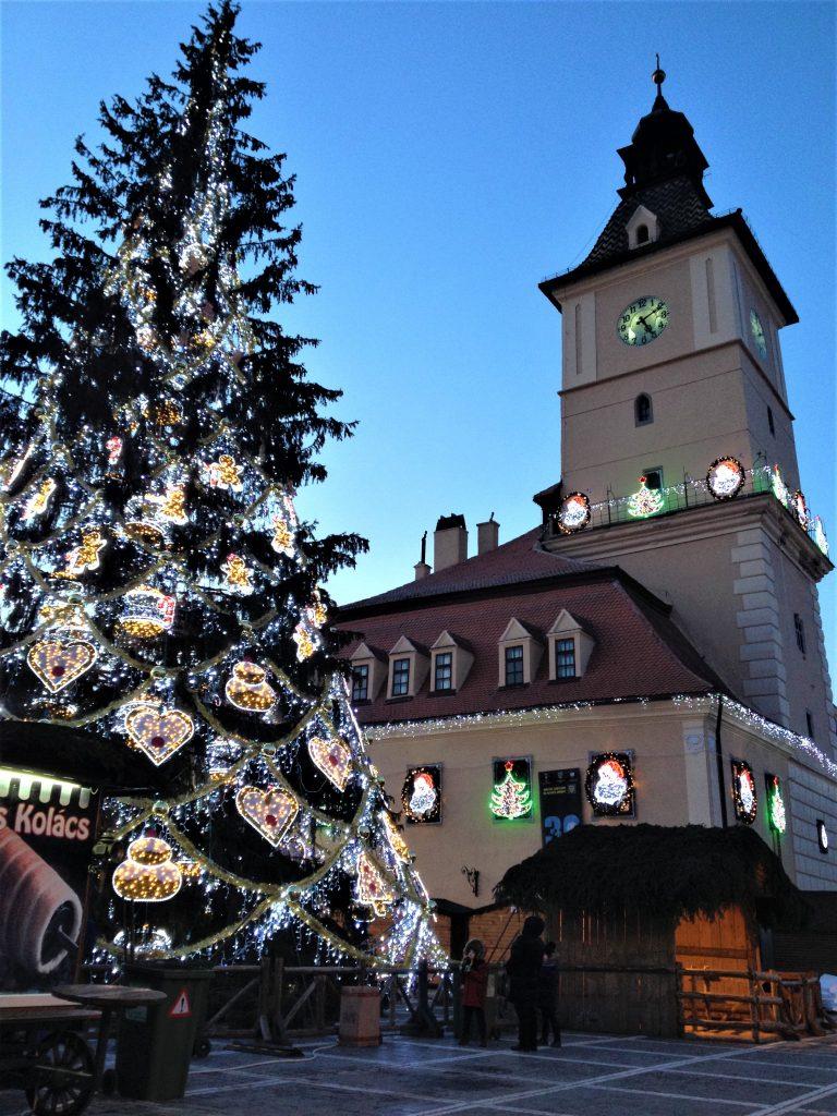 Brasov Christmas Market and Christmas Tree
