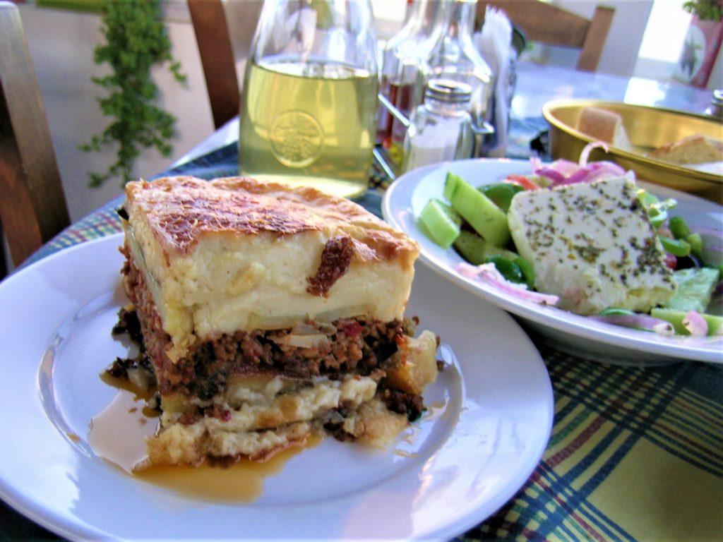 Original Greek Moussaka with bechamel sauce