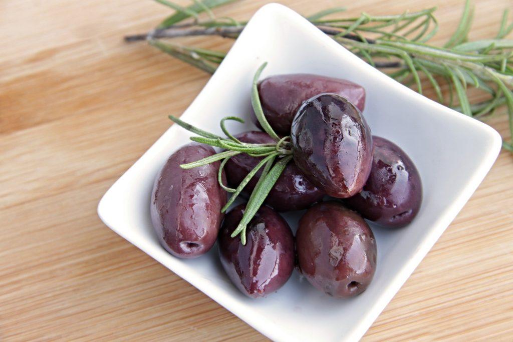 Kalamata olives used in Greek salad
