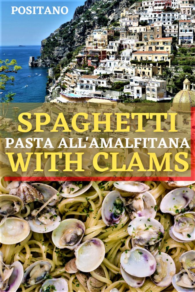 spaghetti with clams recipe pin