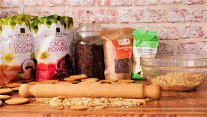 Ingredients for biscuit salami