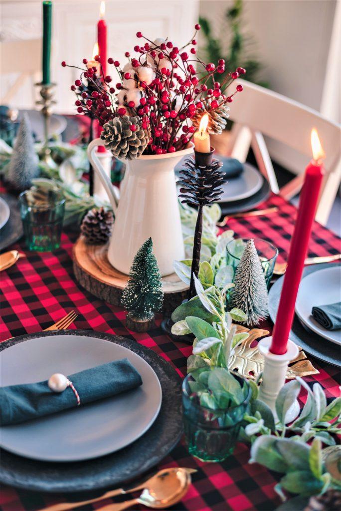 table set for festive new year's eve  dinner