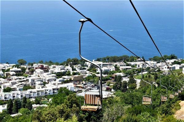 Chair lift to Monte Solaro, Anacapri