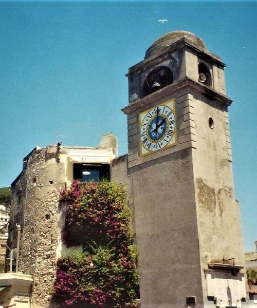 Freestanding Clock Tower in Piazza Umberto I, Capri,