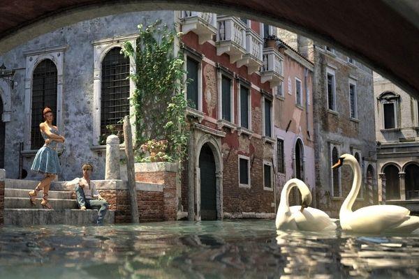 Venice canal art