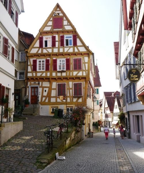 Tubingen Germany Street Walk
