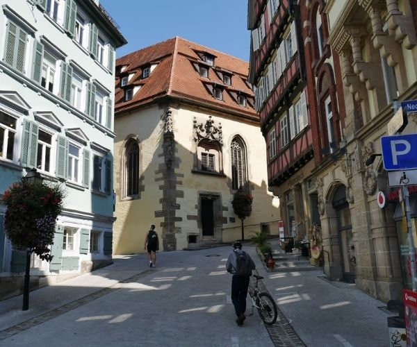 street cyclist Tubingen