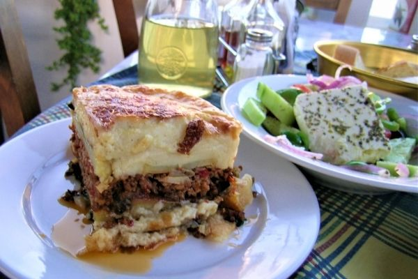 moussaka with béchamel sauce