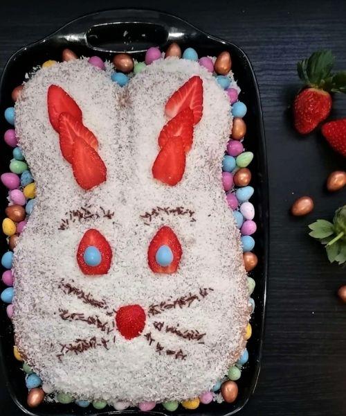 fluffy Easter bunny cake