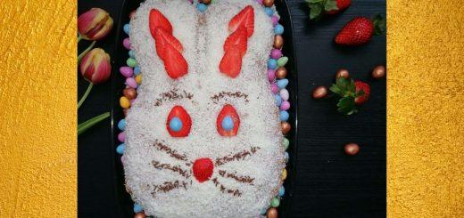 Easter bunny sponge cake