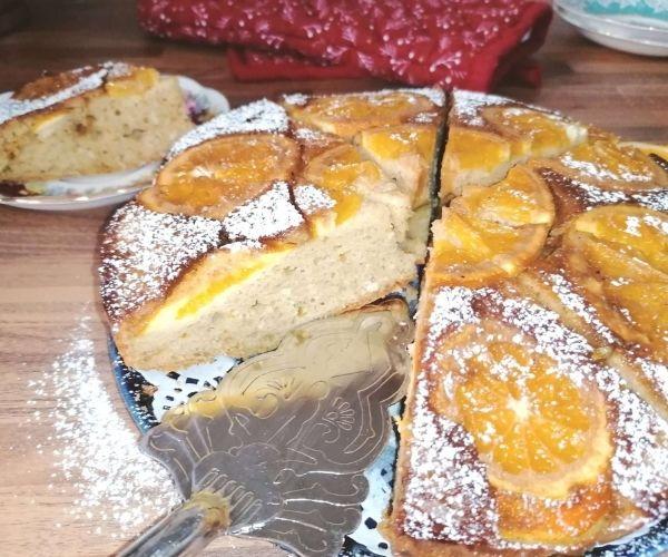 orange and ricotta upside down cake