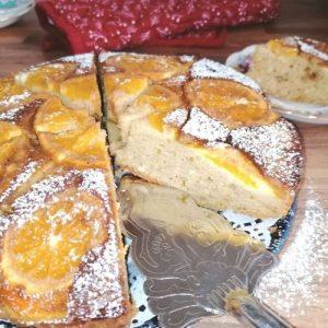 Upside down orange and ricotta cake