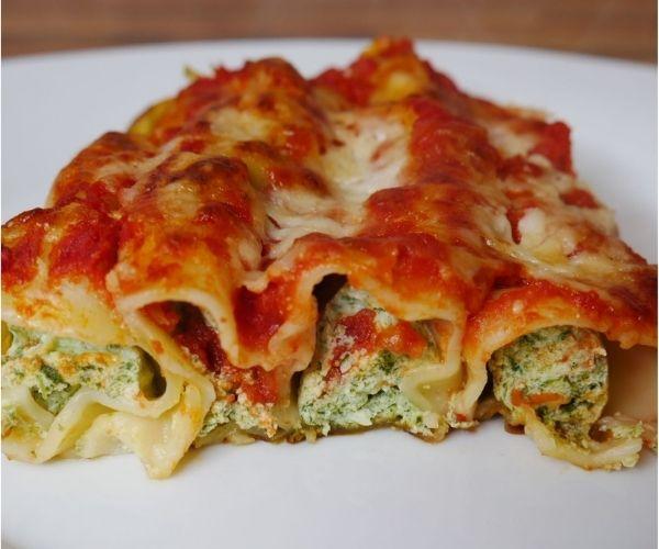spinach and ricotta cannelloni perfect pasta