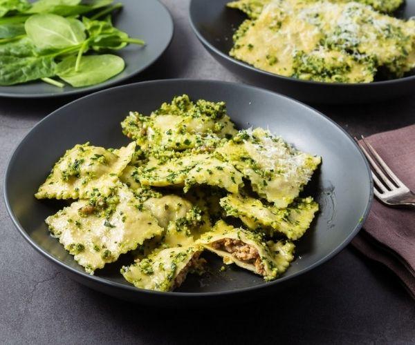 perfect pesto pasta ravioli