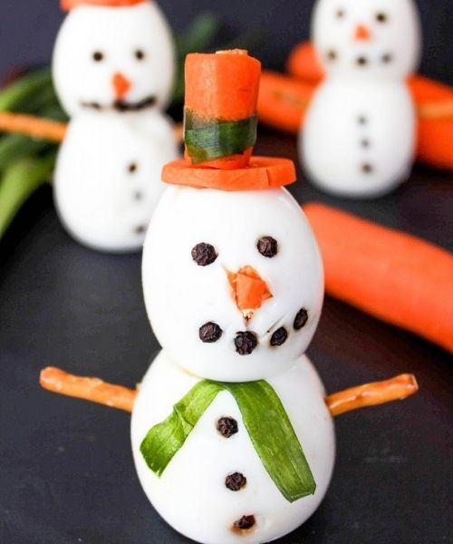 snowman boiled eggs