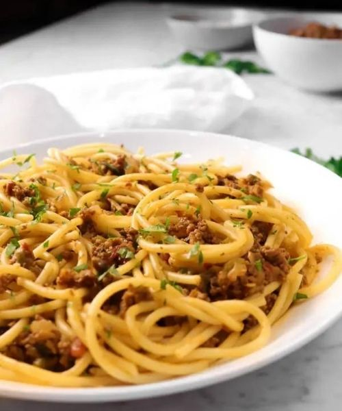 perfect spaghetti and meat sauce