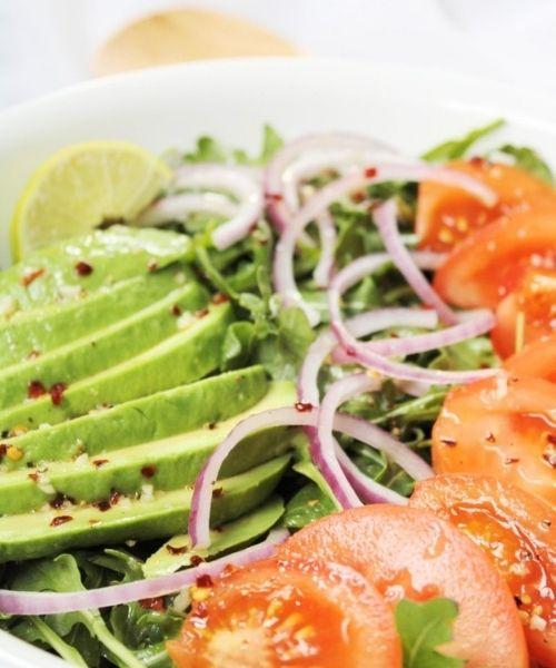 aragula avocado salad