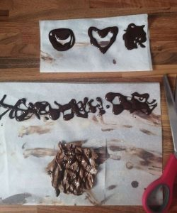 melted chocolate shapes