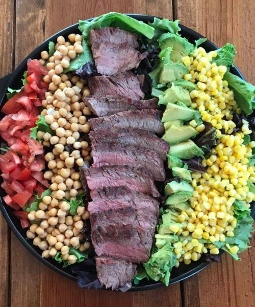 steak platter salad