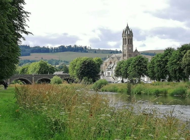 Peebles and Tweed River